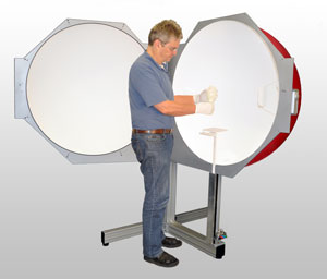 1m integrating sphere with height adjustable post mount