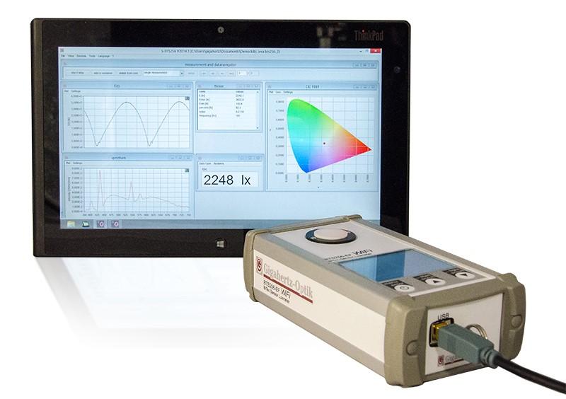 BTS256-E-LED Luxmeter for LED Measuremnt from Gigahertz-Optic